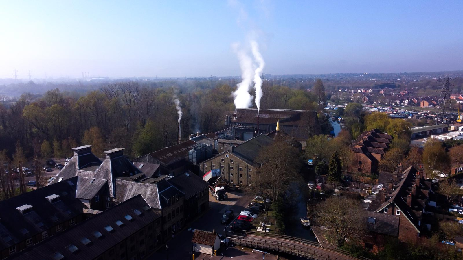 A look at the Maltings from Above